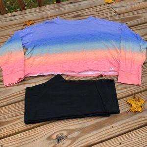 Hollister tie dye long sleeve crop top